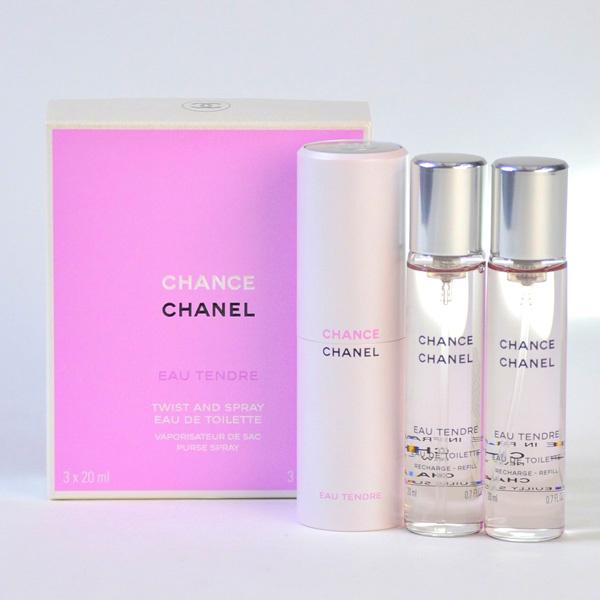 Chanel Chance Eau Tendre EDT 邂逅柔情女士香水連2瓶補充裝 20ml x 3pcs