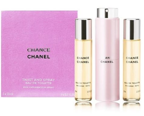 CHANEL Chance EDT Twist and Spray 邂逅淡香水連2瓶補充裝 [20ml x 3pcs]