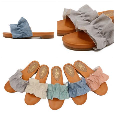 日本製高質荷葉邊涼鞋