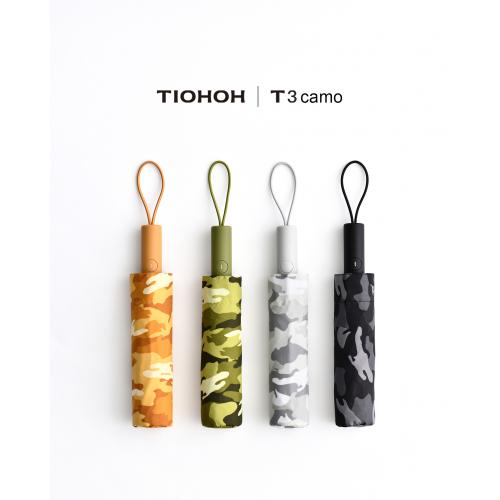 Tiohoh T3camo 滴水不沾摺疊雨傘 (自動) [4色]