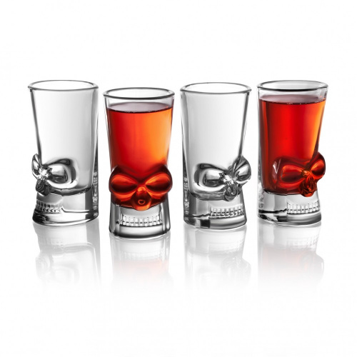 Final Touch 骷髏頭造型玻璃烈酒杯 44ml (4隻裝)
