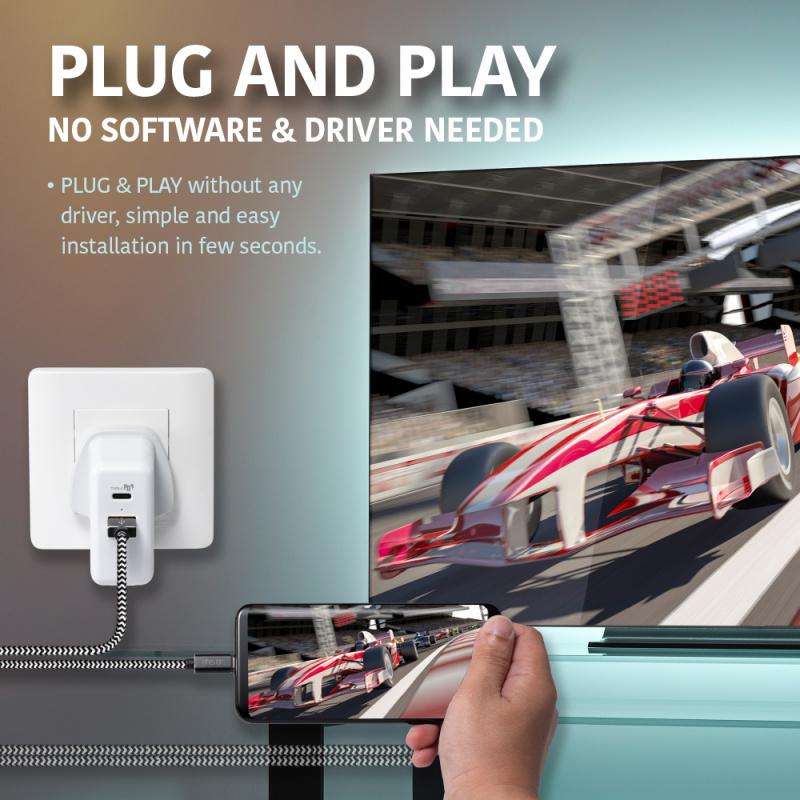 Finestar CC05 Type-C to HDMI 連接線 (可同時充電)