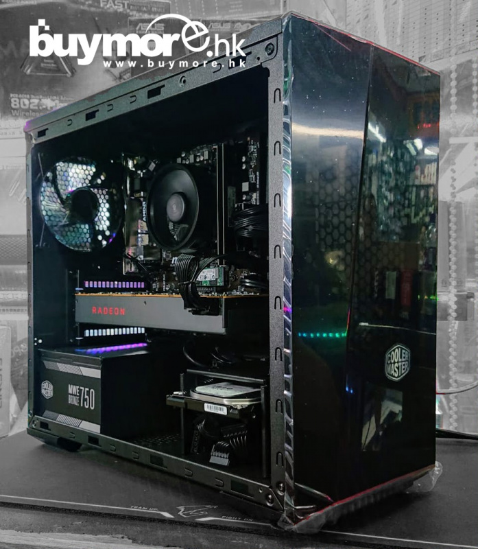 未來科技 AMD Ryzen 5 3600 / MSI B450M MORTAR MAX / G.SKILL Aegis 16G / ADATA 512GB XPG SX8200 NVMe SSD / Sapphire RX5700XT 8G / Cooler Master 3.1 TG / Cooler Master 750w