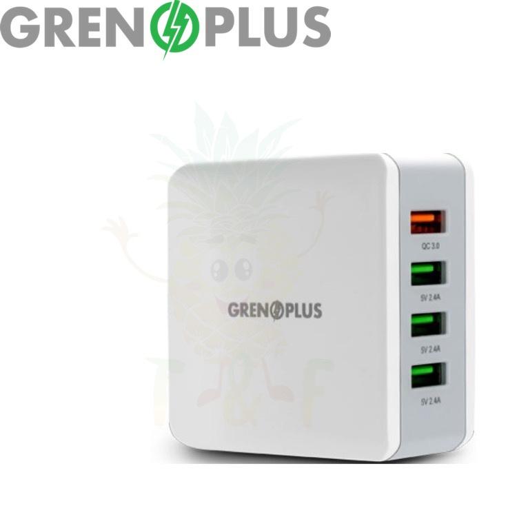 Grenoplus 40W QC 3.0 4 Ports GP-WC40 多功能USB充電器