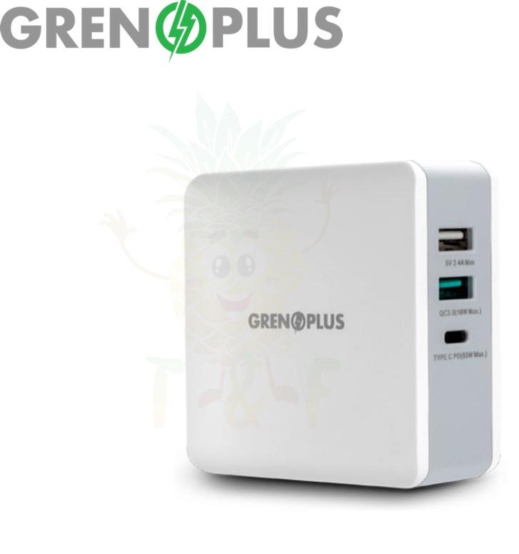 Grenoplus 65W QC 3.0 + PD 3 Ports GP-PD65W 多功能USB充電器
