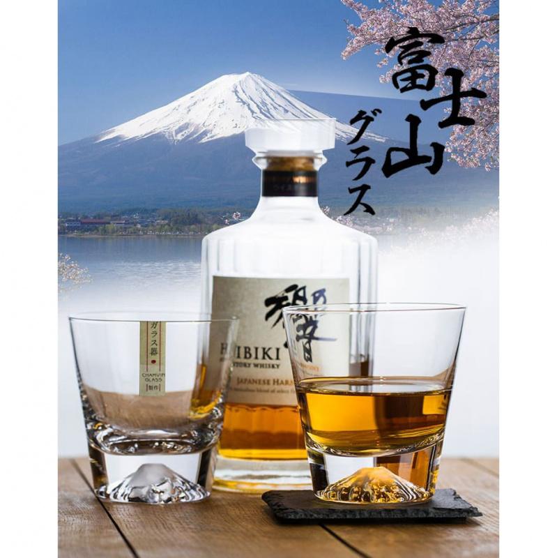 日本富士山水晶玻璃杯
