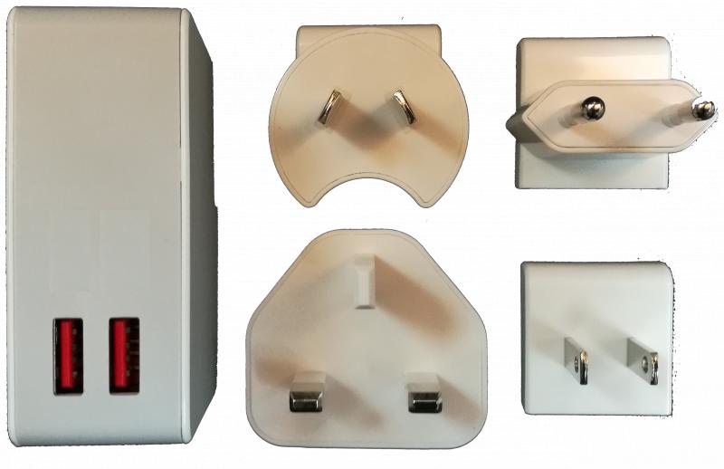 Wavlink WL-UH1025P 24W USB 智能快充旅遊插座