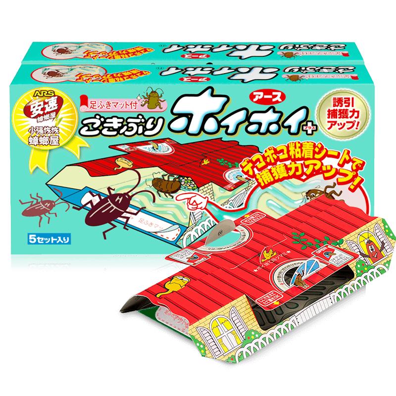 日本 安速強力蟑螂誘捕滅殺蟑螂屋 [5枚]