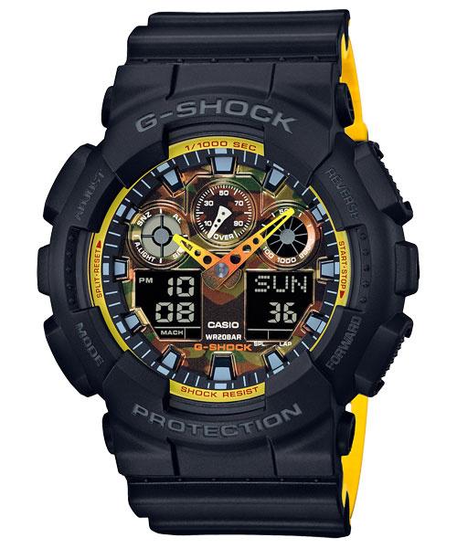Casio G-Shock 經典迷彩款 (特別配色型號) - #GA-100BY-1A