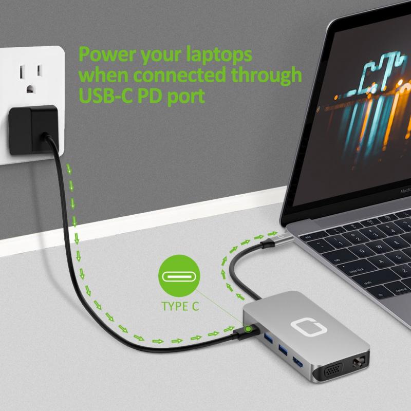 Omars 10in1 USB C Hub