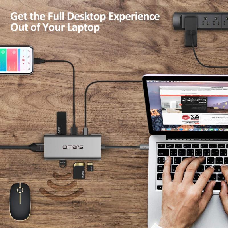 Omars 7in1 Dual USB C Hub