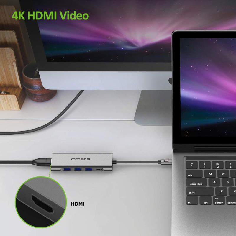 Omars 5in1 USB C Hub