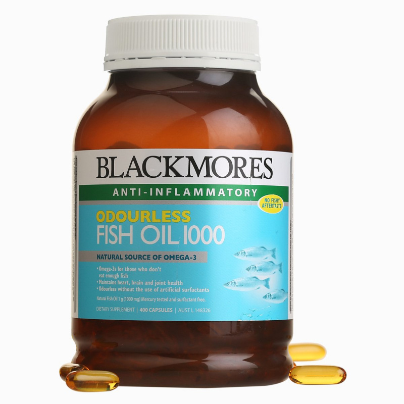 BLACKMORES - 無腥味魚油丸1000 400粒