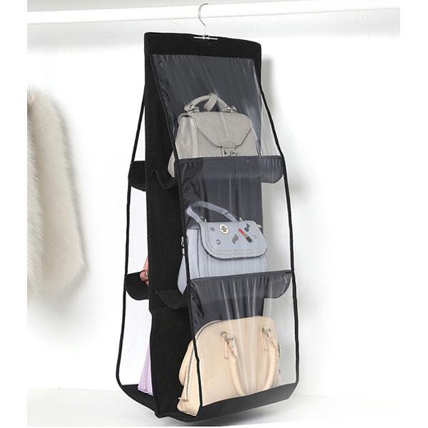 韓國JK加厚雙面六格手袋收納袋