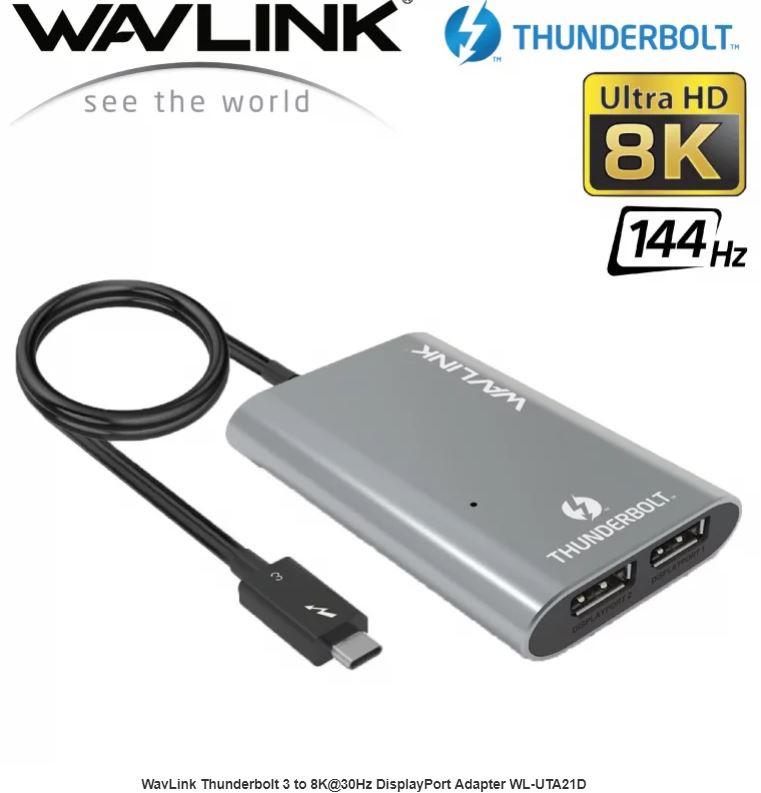 【香港行貨】WavLink Thunderbolt 3 to 8K@30Hz DisplayPort Adapter WL-UTA21D