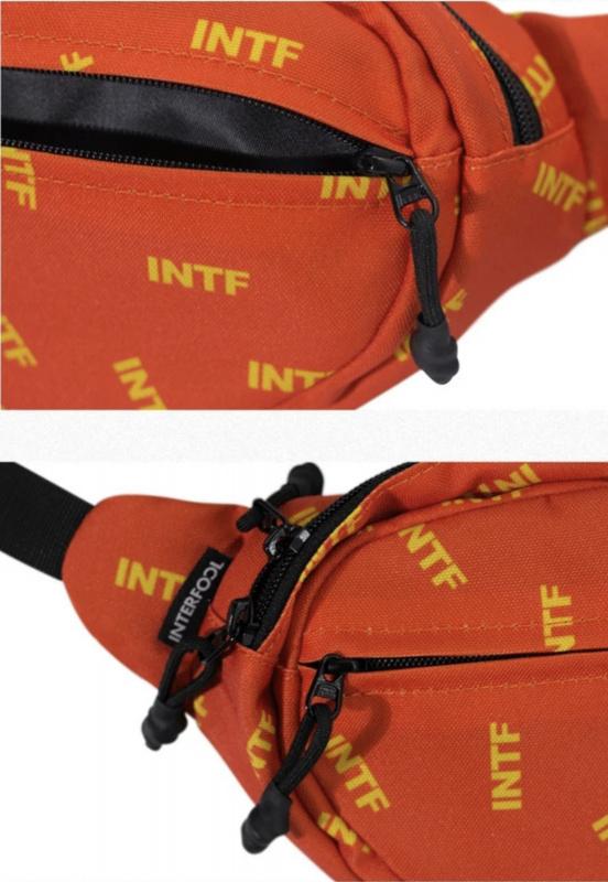 INTERFOOL原創品牌大容量運動兩用尼龍防潑水斜跨腰胸包