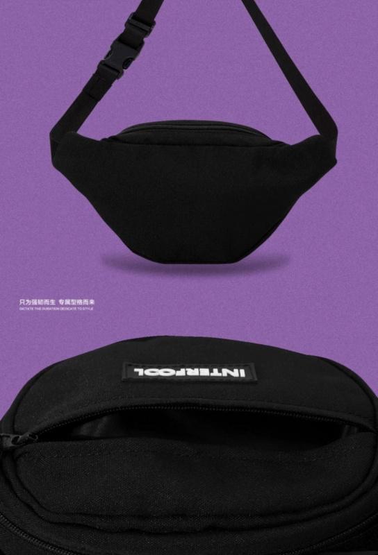 INTERFOOL原創品牌大容量螢光兩用尼龍防潑水斜跨腰胸包