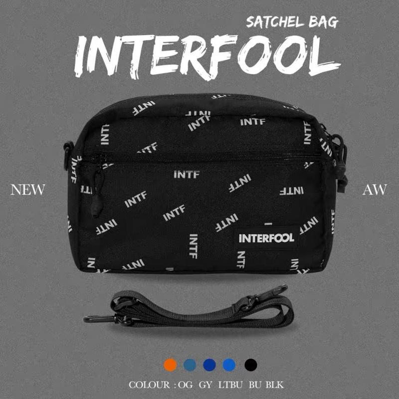 INTERFOOL原創品牌大容量INTF系列尼龍防潑單肩斜跨包