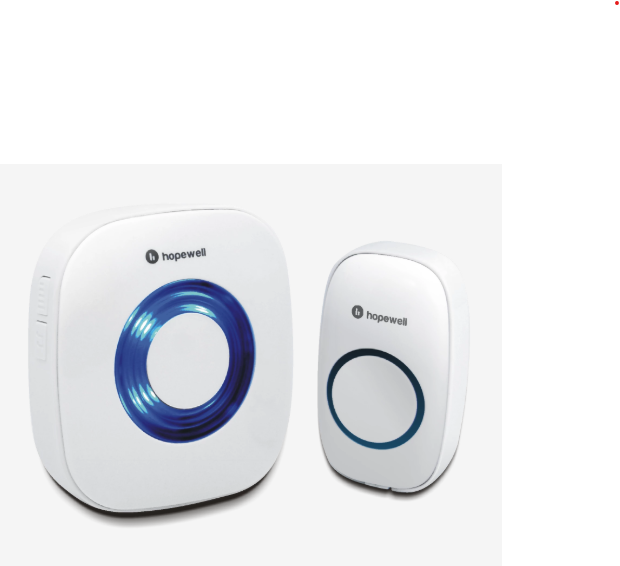 Hopewell 200m Battery Operated Wireless Doorbell 電池式門鈴 DK-1