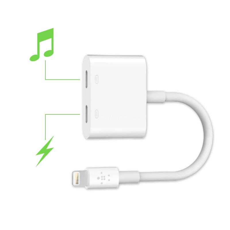 Belkin Lightning Audio + Charge RockStar™ 分插器