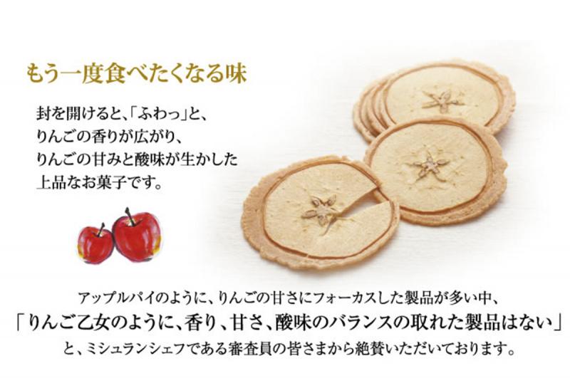日本 長野No.1手信 超薄香脆蘋果煎餅 禮盒 (10件獨立包裝)【市集世界 - 日本市集】