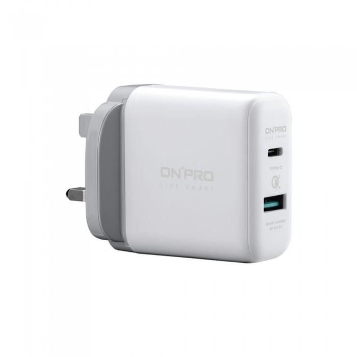 ONPRO 6A 兩用快充 QC3.0 USB充電器 (USB-A + Type-C) [2色]