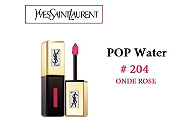 Yves Saint Laurent YSL 彩蜜唇色水漾系列 (#204 Onde Rose) Rouge Pur Couture Vernis A Levres Pop Water Glossy Stain 6ml