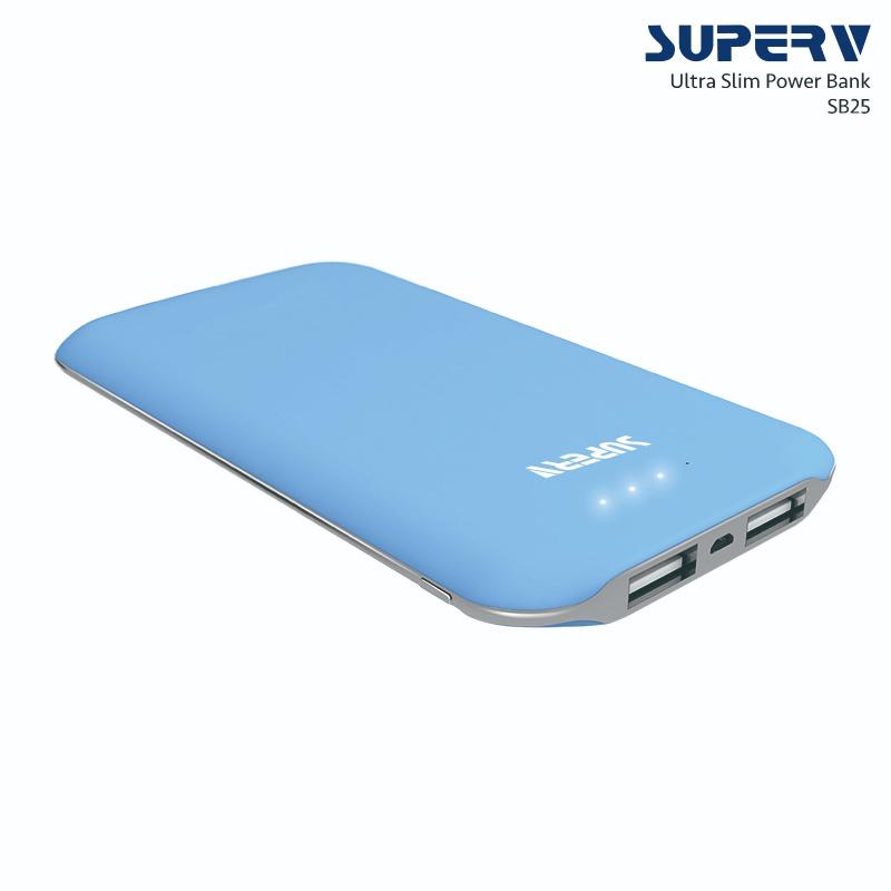 SuperV SB25 5000mAh 超薄移動電源 [4色]