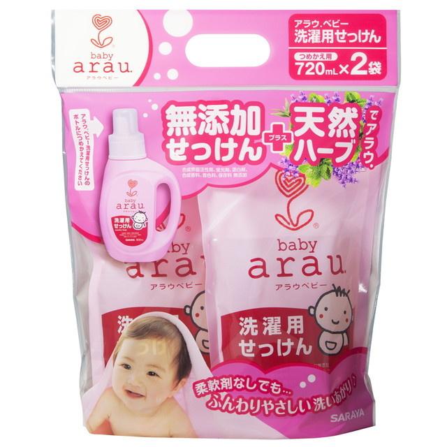 Arau Baby 無添加柔軟洗衣液 (補充孖庄 720ml x 2袋)