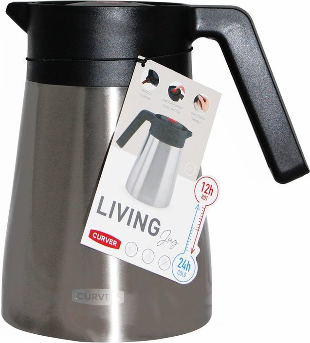 CURVER - 荷蘭家品名牌 雙層不銹鋼保冷/保温壼 (1公升) 822358  Insulated Jug 1 Litre Stainless Steel Double Walled