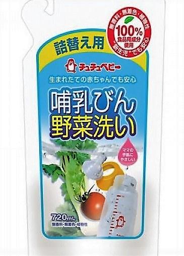 ChuChuBaby 奶瓶蔬菜清洗液 補充裝  720ml