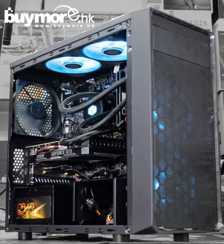 未來科技 AMD Ryzen 7 2700 / ASUS B450M-K / G.SKILL Aegis 8G DDR4-3000 / Samsung 970 EVO Plus NVMe SSD / MSI GTX1660ti / FRACTAL DESIGN FOCUS I MINI / ENERMAX 500