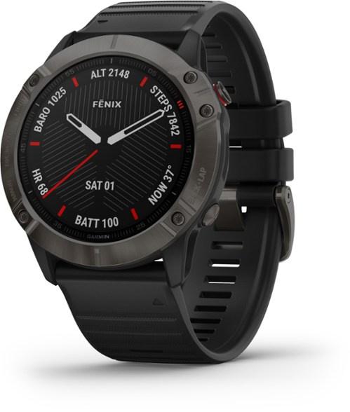 Garmin Fenix 6x 運動腕錶 英文版 黑色錶圈 黑色矽膠錶帶 010-02157-10 香港行貨