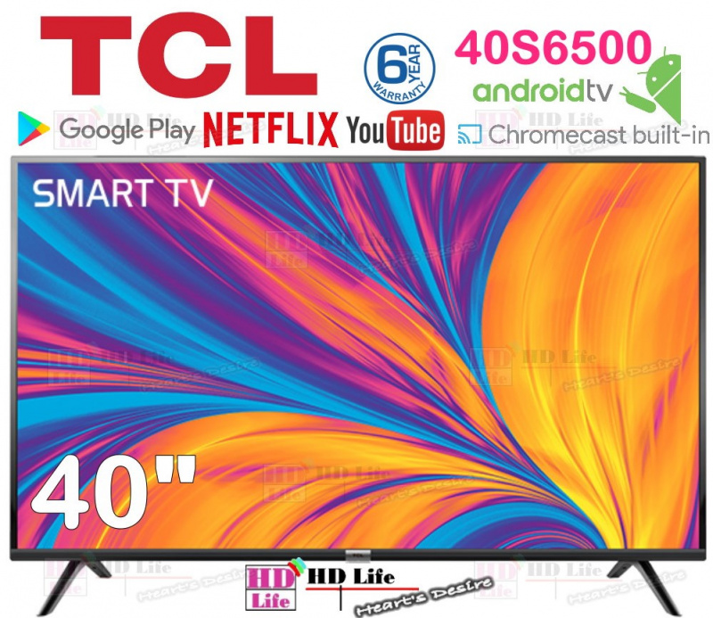 """TCL 40S6500 40"""" Android™系統 Google Play   Dolby Audio HD高清智能電視 S6500"""