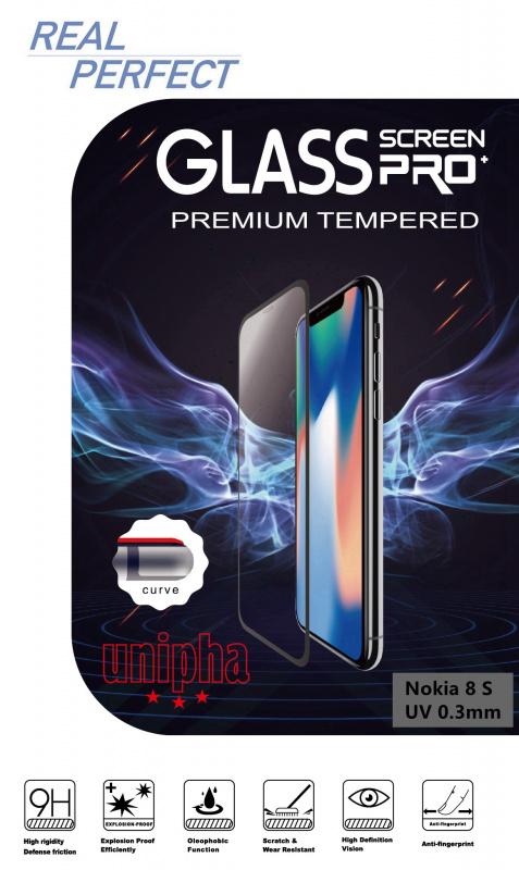 全透明 Nokia 8 Sirocco UV 手工上膠 強化玻璃保護貼 保護膜