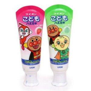 LION 麵包超人牙膏 (士多啤梨味 / 蜜瓜味) 40g