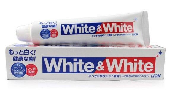 獅王 LION 特效美白牙膏 White & White   150g