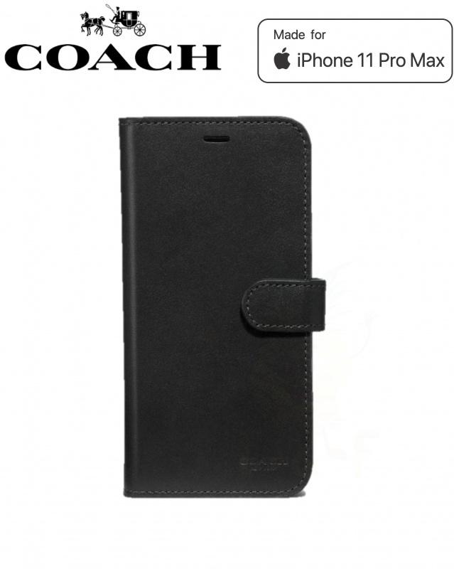 Coach Leather Folio Case iPhone 11 Pro Max