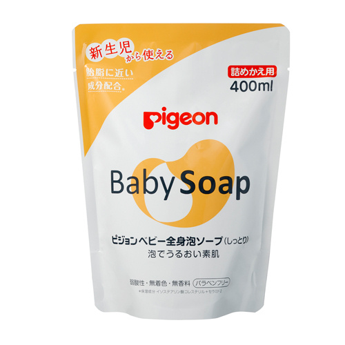 Pigeon 嬰兒 保濕泡泡沐浴露 400ml  (補充庄)