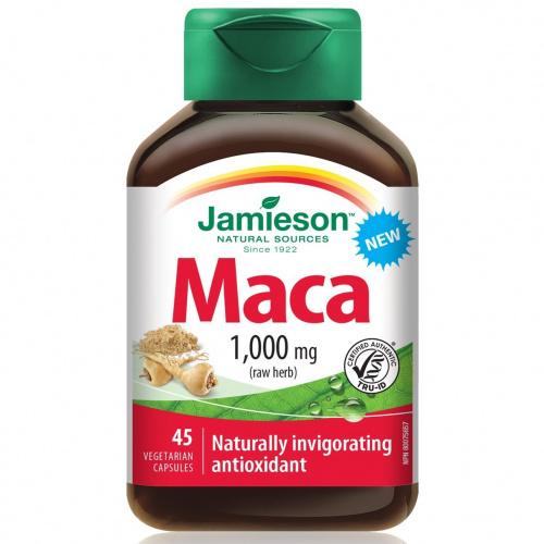 Jamieson 瑪卡1000毫克45粒素食膠囊 [1/3樽]