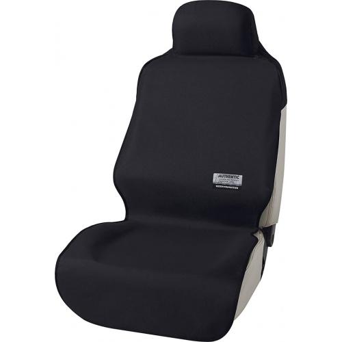 日本 BONFORM 汽車內單座防污墊寵物墊椅套 [黑色]