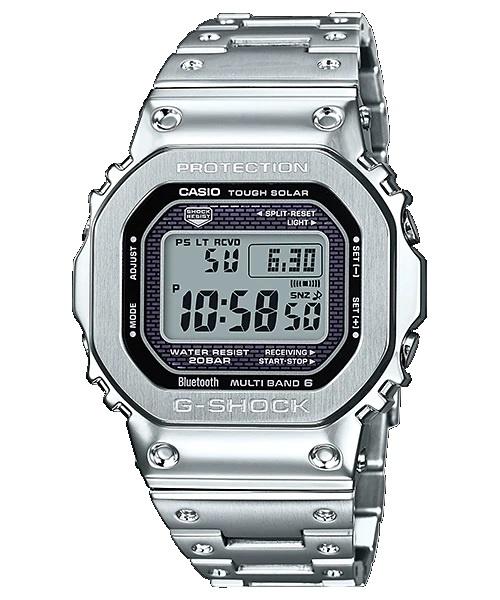 CASIO G-SHOCK 銀鋼 Bluetooth®電波太陽能手錶 GMW-B5000D-1 (日本製造)