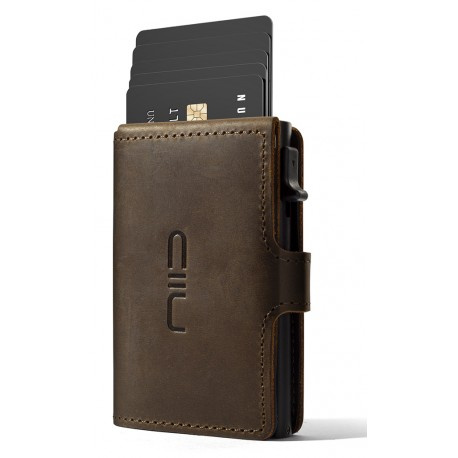 Automatic Leather Mini Wallet