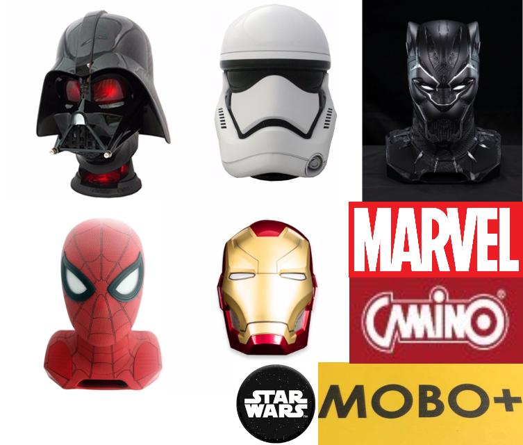 【香港行貨】Camino Star Wars/ Marvel 1:1(1比1頭) [Storm Trooper帝國風暴兵/Darth Vader黑武士/Black Panther黑豹/Spider-Man 蜘蛛俠/Ironman] 藍芽喇叭 [761505/ 761478/ 761481/ 761638/ 761623]