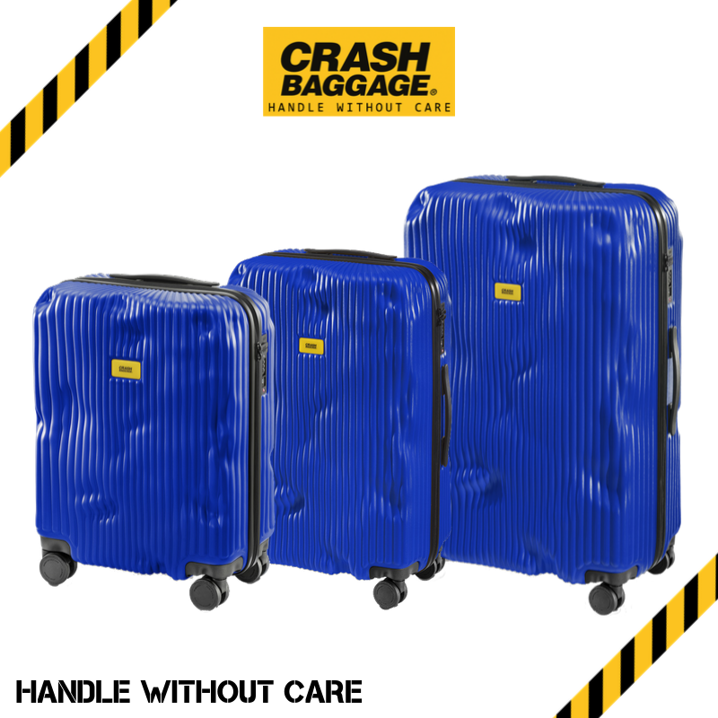CRASH BAGGAGE - STRIPE  BLUE