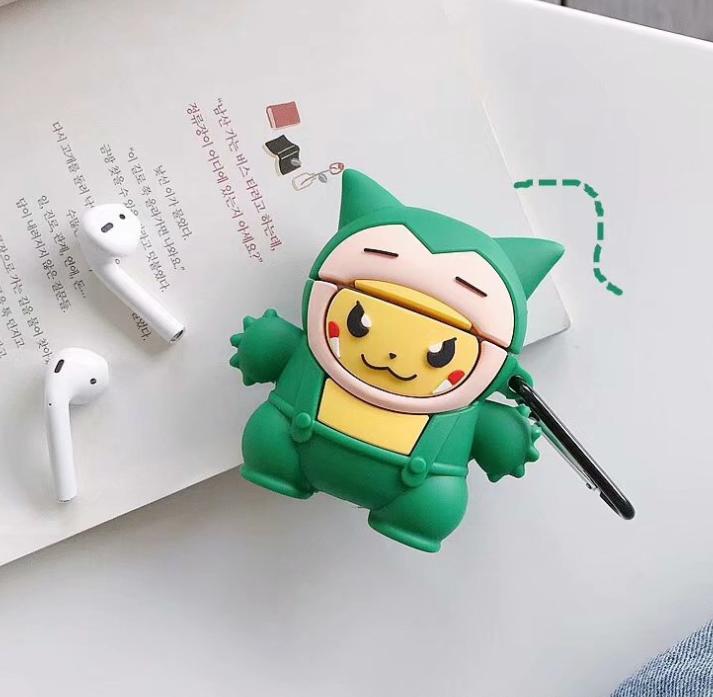 Airpods卡通矽膠保護套連扣 [5款]