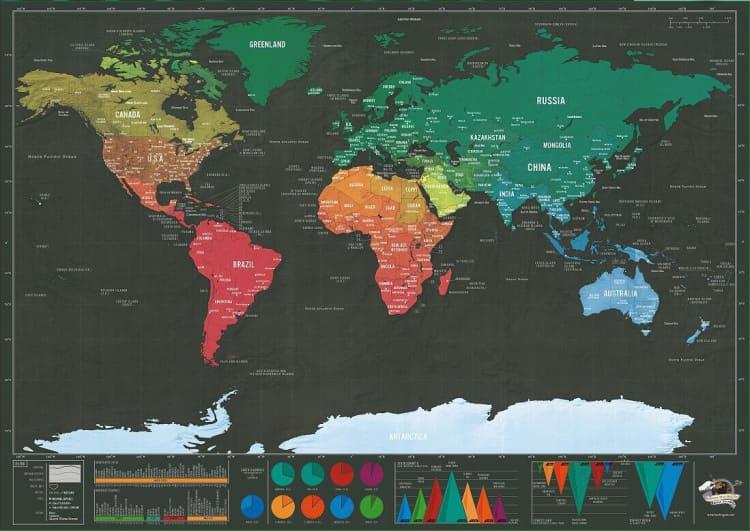 黑金刮刮旅游地圖