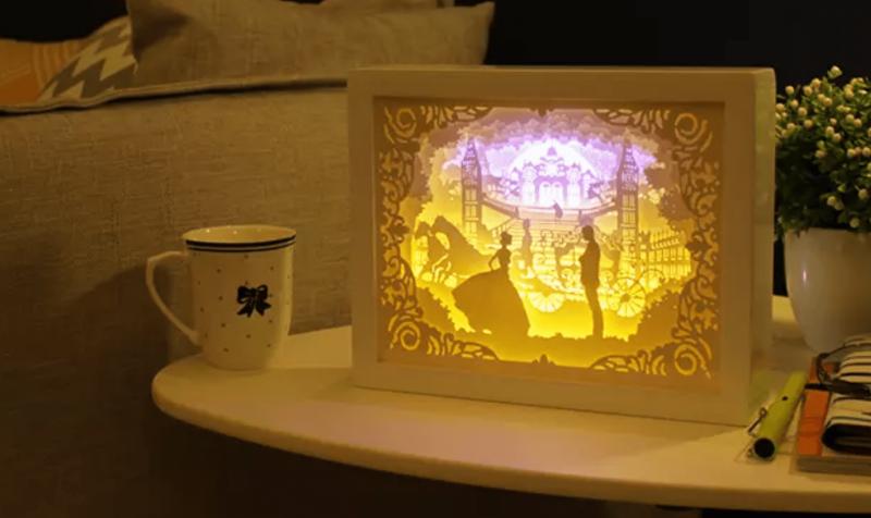 DIY 光影紙雕燈 夢中婚禮