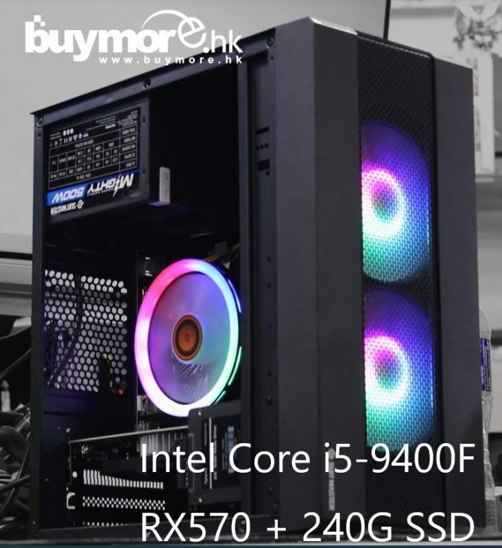 未來科技 Intel Core i5-9400F+RX570+RGB風冷 電腦組合