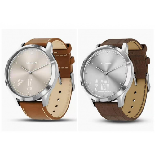 Garmin Vivomove HR Premium 義大利皮革錶帶 智能手錶 (繁、簡體中文版) [2色]